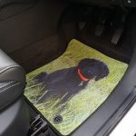 Product Images Gallery - Car mat with dog image
